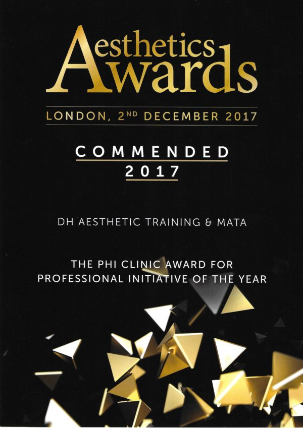 Aesthetics Awards 2017 - Commended